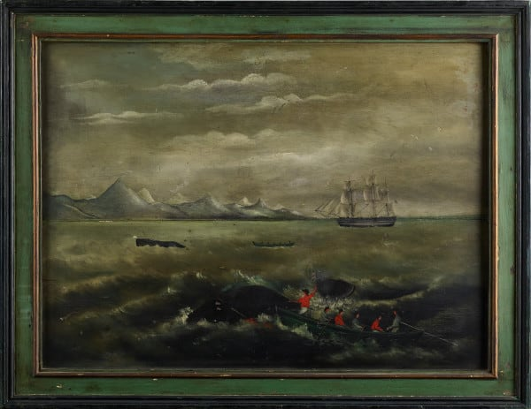 Whaling Overmantel 1